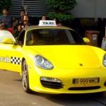 Mobil Porsche Jadi Taksi