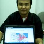 Mahasiswa PENS Petakan Daerah Rawan Dengan Software
