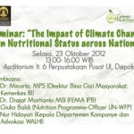Ikuti Seminar Climate Change and Nutritional Status