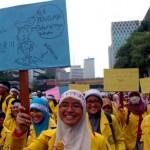 Peringati Hari Anti Korupsi, Mahasiswa UI Long March ke Istana Negara