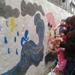 Mahasiswa ITB Percantik Perumahan Warga Dengan Mural