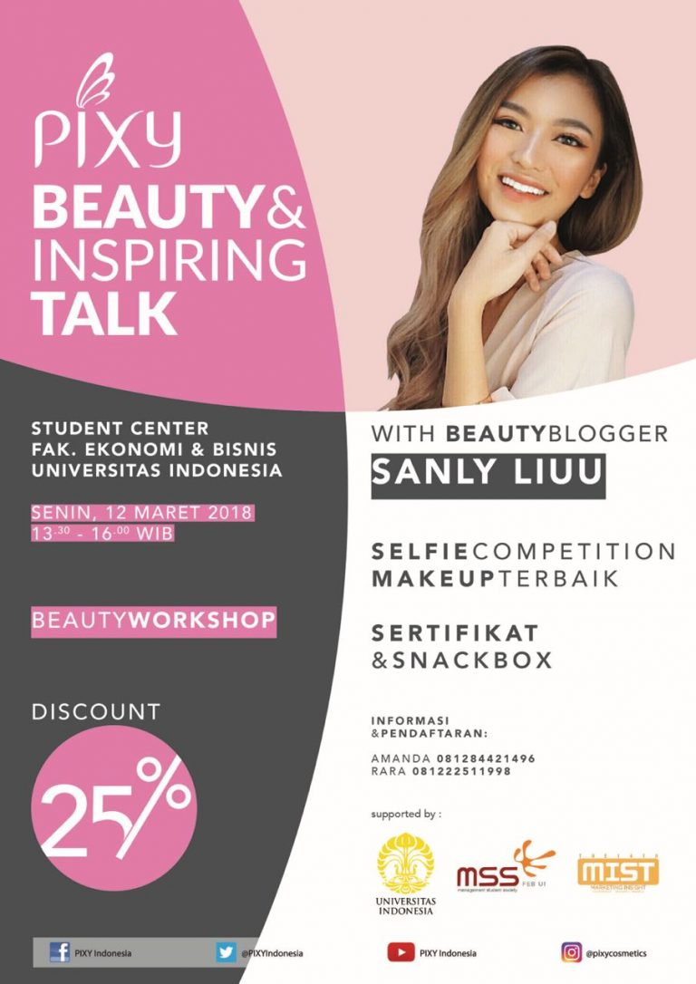 PIXY Beauty & Inspiring Talk With Sanly Liuu