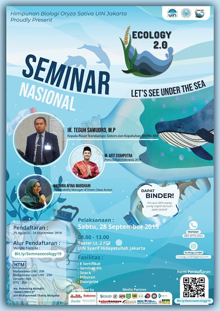 "Seminar Nasional Ecology 2.0 : ""Let's See Under The Sea"""