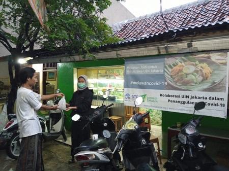 "Mahasiswa ""Kos"" Terdampak Covid-19 UIN Jakarta Dapat Bantuan"