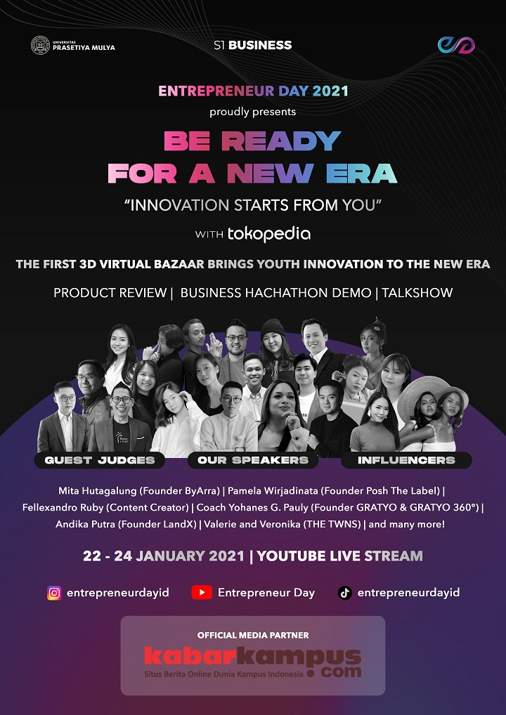 "Entrepreneur Day 2021 Hadirkan ""Business 3D Virtual Bazaar"