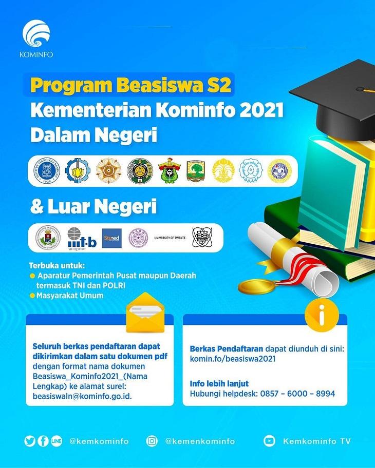 Beasiswa Kominfo Untuk Pendidikan S2 Dibuka